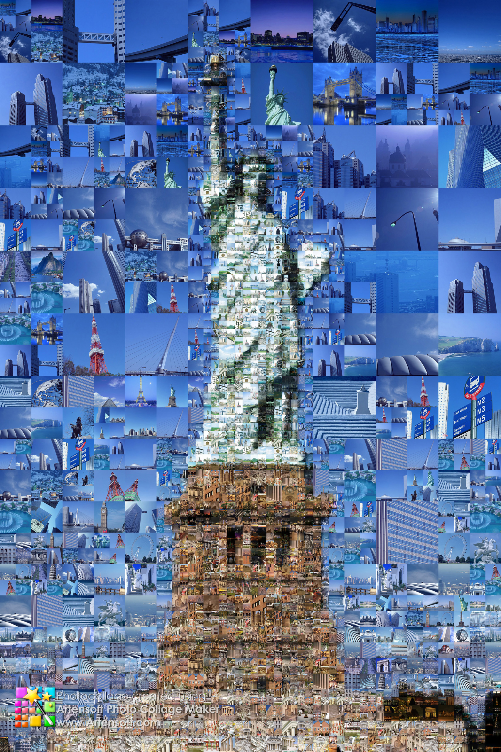 photo collage statue of liberty description program parameters for creating detailed view. Black Bedroom Furniture Sets. Home Design Ideas