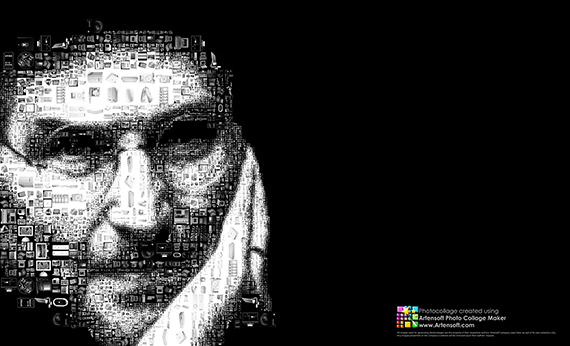 Steve Jobs photo mosaic portrait