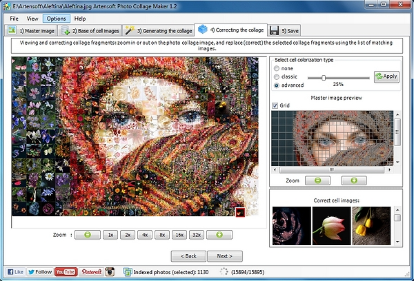The difference between Photo Collage Maker and Photo Mosaic Wizard