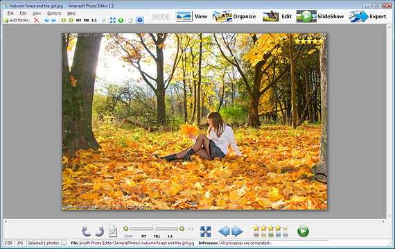 Fast photo viewer in full-screen