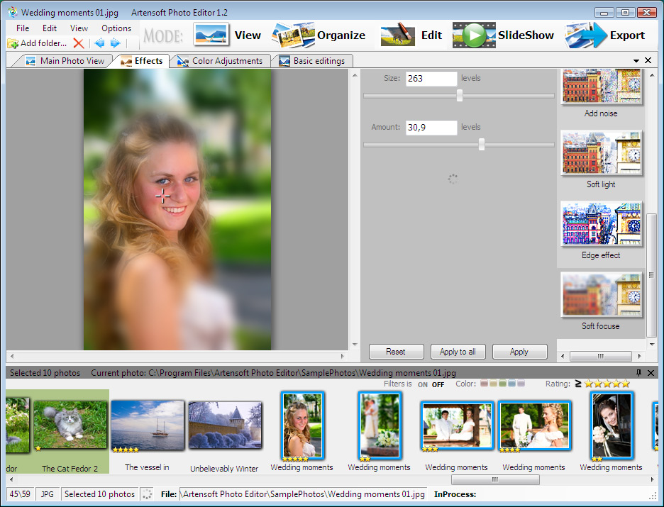 Artensoft Photo Editor screenshots