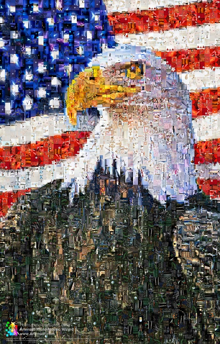 Eagle Photo mosaic