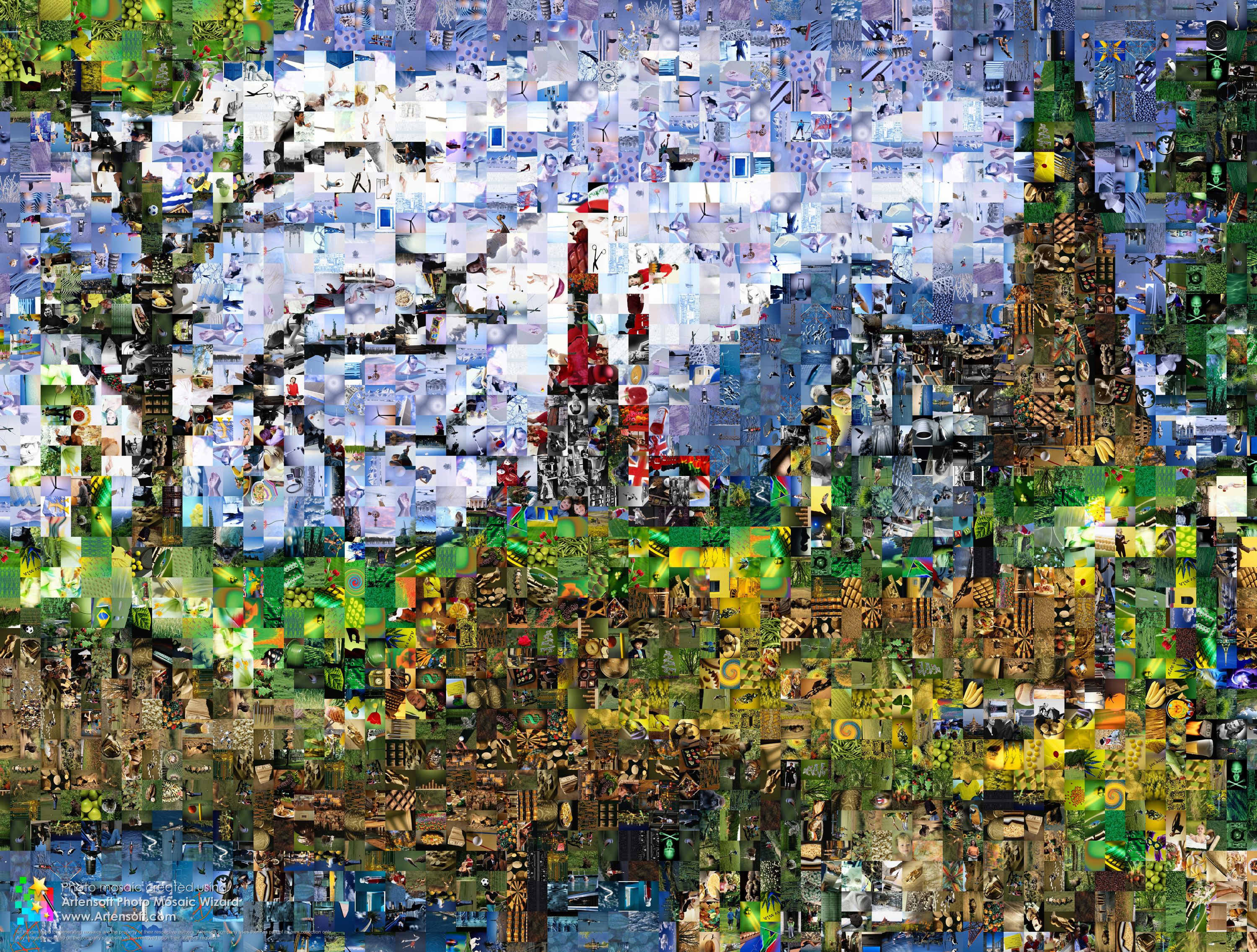 2000 Pieces Photo Mosaic Photomosaic Download Full Size Extra Large Photographic Here 12400x9400 Pixels 25Mb