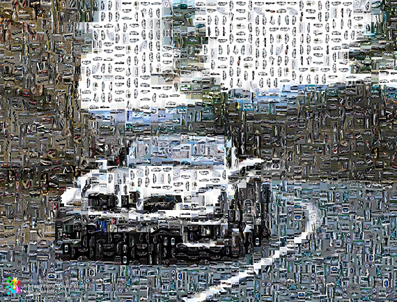 Photo mosaic, Photographic mosaic (the Car)