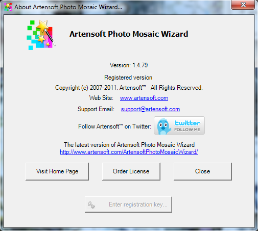 About Artensoft Photo Mosaic Wizard
