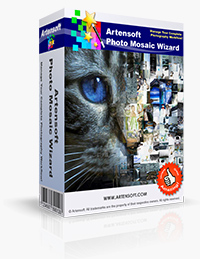 Main view Artensoft Photo Mosaic Wizard