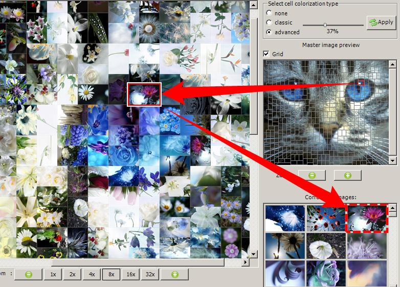 foto mosaik erstellen artensoft photo mosaic wizard. Black Bedroom Furniture Sets. Home Design Ideas