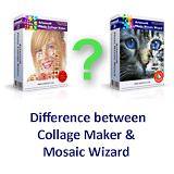 Difference between Photo Collage Maker and Photo Mosaic Wizard