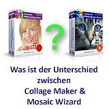 Was ist der Unterschied zwischen Photo Collage Maker und Photo Mosaic Wizard?