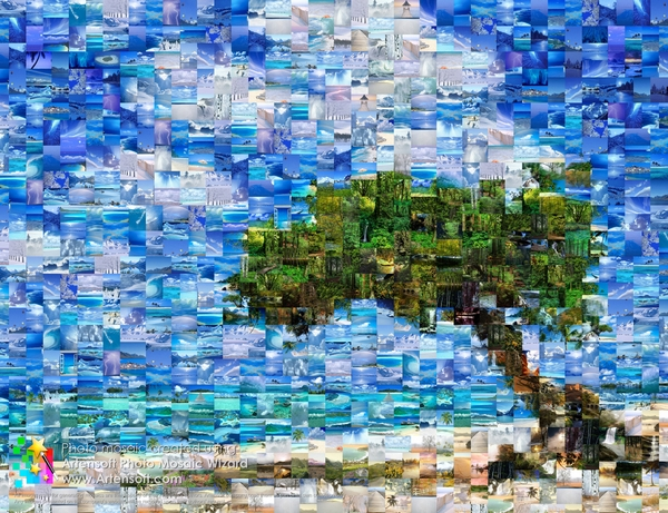 With Artensoft Photo Mosaic Wizard you can create an amazing photo mosaic